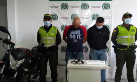 En Ibagué capturan a dos hombres con armas de fuego sin salvoconducto