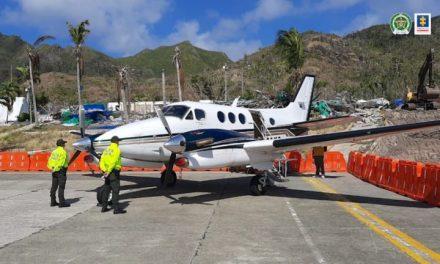 Fiscalía afectó con medidas cautelares la aeronave que aterrizó en Providencia con cerca de media tonelada de cocaína