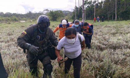 En Putumayo, Policía Nacional rescató a una familia atrapada por el invierno [VIDEO]