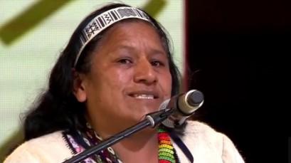 Aida Quilcué fue seleccionada como nueva candidata para curul del Senado