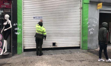 Tatequieto a parqueaderos de San Andresito y Plaza España con operativo de control liderado por la Alcaldía Local de Los Mártires