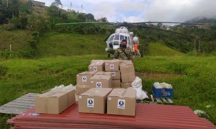 Ejército transporta 40 toneladas de ayuda humanitaria a Ituango, Antioquia