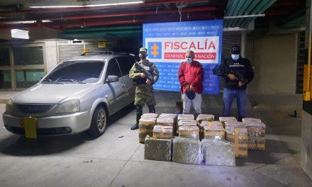 Golpe a la delincuencia en el Valle de Aburrá: Capturado hombre con 250 kilogramos de marihuana